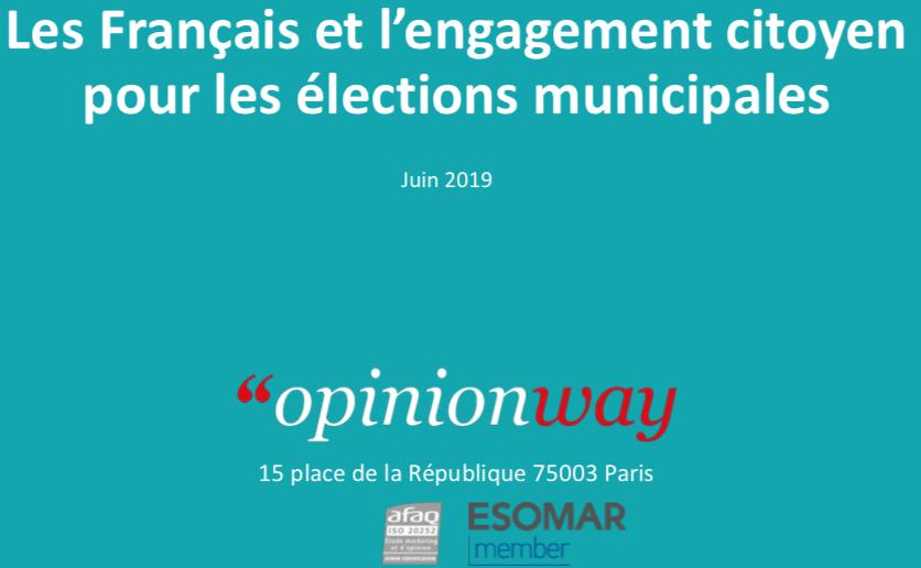 Sondage opinion way engagement citoyen lors des élections municipales