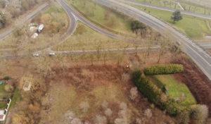 Photo aérienne de la parcelle achetée par LIDL