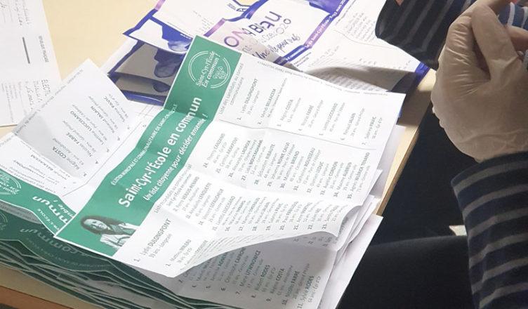 Dépouillement élections Saint-Cyr L'Ecole