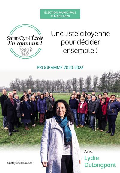 Programme papier liste citoyenne saint cyr l ecole en commun
