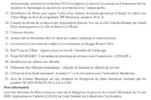 ordre du jour conseil municipal page 2